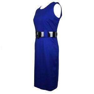 Calvin Klein Dresses - Calvin Klein Royal Blue Belted Dress